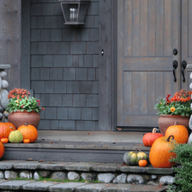 Front Porch Decor for Fall in Lancaster