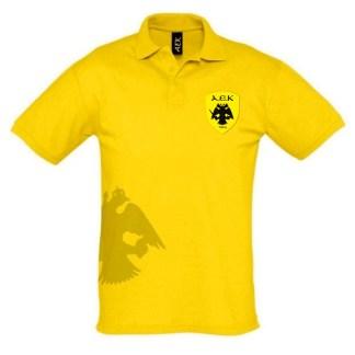 Polo Βαμβακερό Κίτρινο με Δικέφαλο