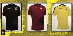 Φανέλες Εμφάνισης ΑΕΚ Ανδρών (handball, volleyball, AEK)