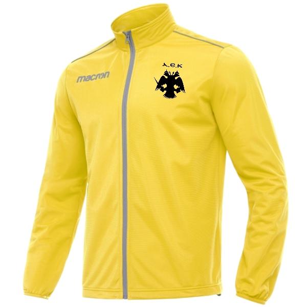 Ζακέτα Φόρμας ΑΕΚ Niagara με λογότυπο στην πλάτη (Κίτρινο)