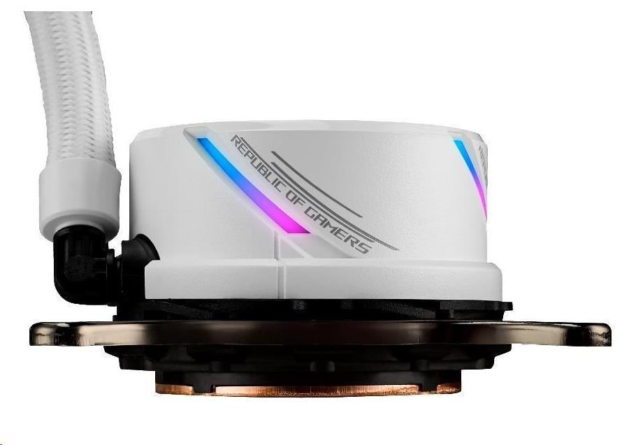 ASUS vodní chladič CPU AIO ROG STRIX LC 240 RGB White Edition. 2x120mm