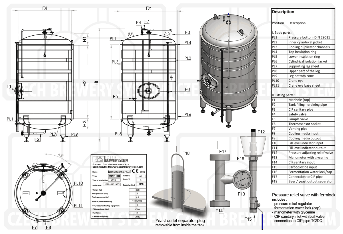 Mbtvi C Pressure Tank To Maturation Of Beer