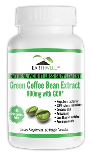 green coffee bean extract pure with gca natural weight loss supplement