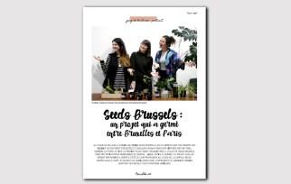 Magazine N°1 - jardinage sur balcon - troc de plantes avec seeds brussels