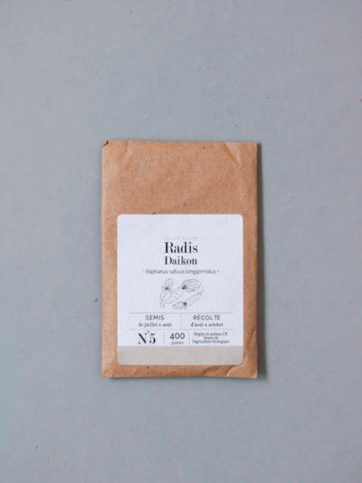 graines bio et reproductibles de radis daikon - échoppe végétale