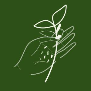 logo échoppe végétale, box jardinage bio et outils de jardin