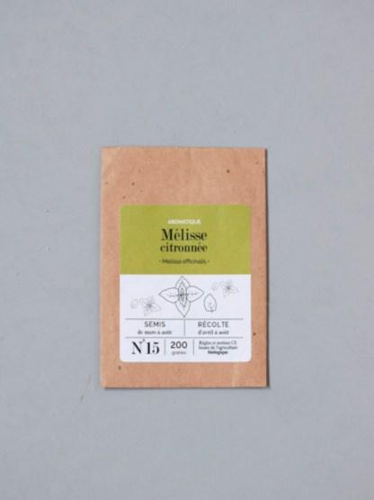 sachet de graines bio et reproductibles de mélisse citronnée - échoppe végétale