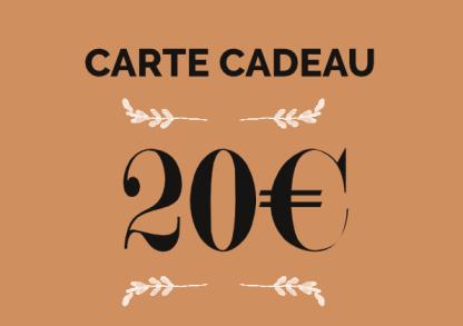 carte cadeau 20€ boutique en ligne éthique, écologique et box jardinage