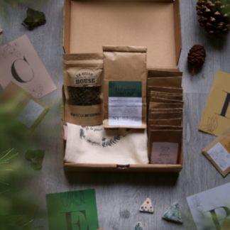 trousseau végétal : coffret cadeau pour jardiner sans jardin au naturel, sur un balcon, rebord de fenêtre, potager en ville
