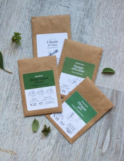 kit graines aromatiques et plantes médicinales sur balcon