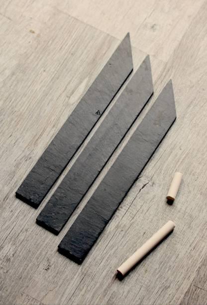 étiquette noir ardoise à piquer fabriqué en France à Angers, box jardinage   Échoppe Végétale