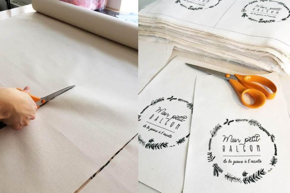 confection de la pochette à vrac pour graines KUFU en collaboration avec Mon petit balcon