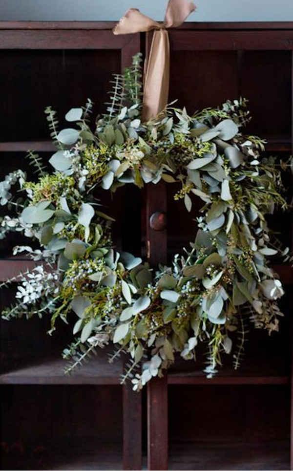 couronnes de noël végétale sapin et eucalyptus blog végétale