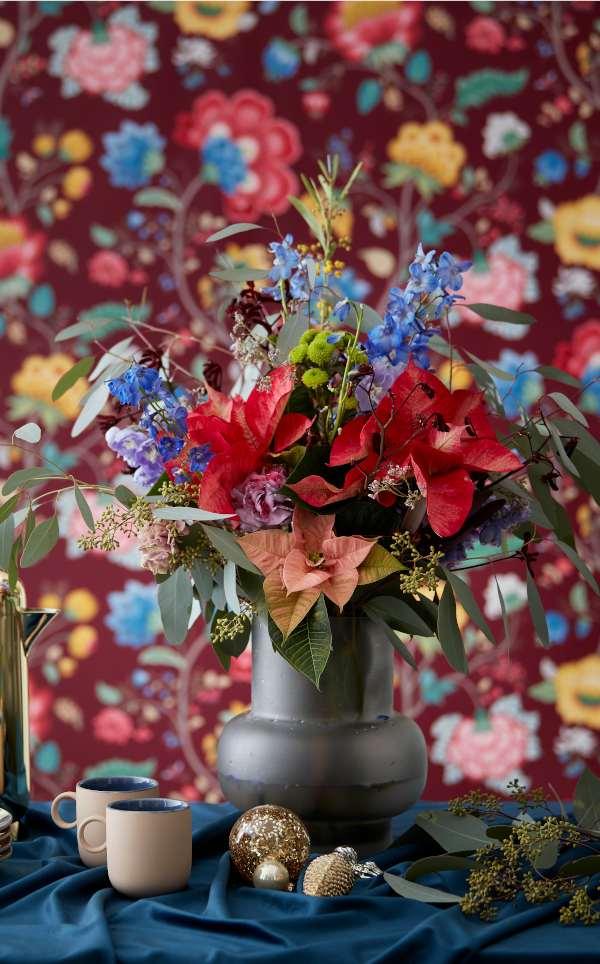 bouquet coloré poinsettia conseils fleuriste, blog jardinage