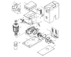 Seznam náhradních dílů pro pohon posuvné brány BISON30 OTI