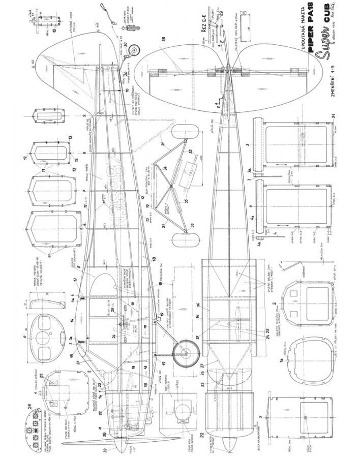 PIPER SUPER CUB PA 18 AGRICULTURAL PA 18A PARTS CATALOG