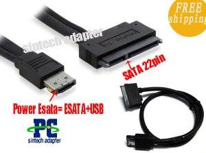 Power ESATA (esatausb bo) to 22Pin SATA cable(50cm