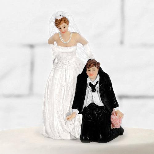 Tortenfigur Hochzeit Brautpaar Tortenaufsatz Tortendeko