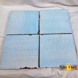Mattonelle fondo azzurro 20 x 20 - TERRA D'ARTE