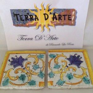 """Mattonelle decorate """"Angolo"""" - TERRA D'ARTE"""