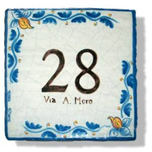 Numero Civico Blu - TERRA D'ARTE