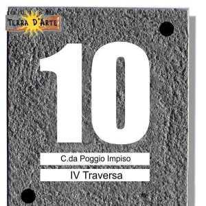 Numero Civico in pietra lavica 15 x 20 - TERRA D'ARTE