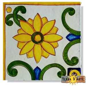 decoro siciliano in ceramica TD 224 AN