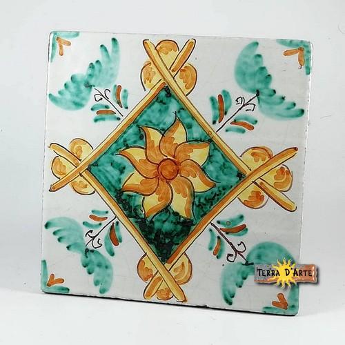 ceramica_siciliana_Codice_Siciliano_Antico_Verde_15x15