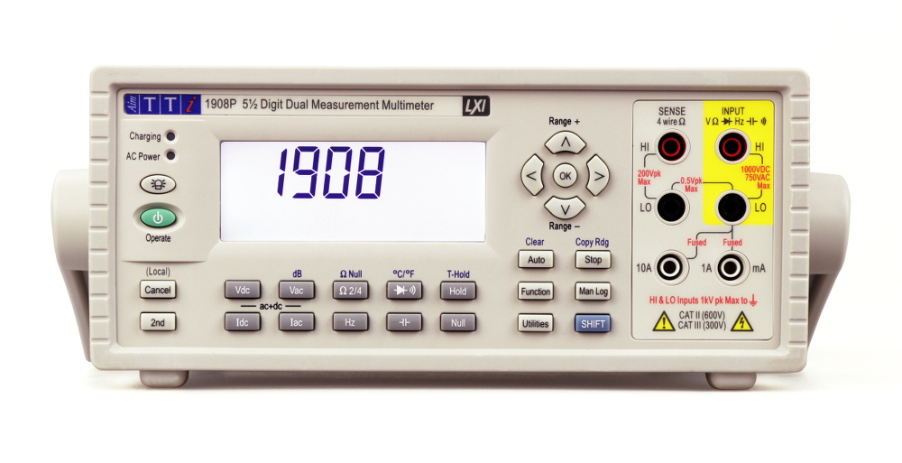 AIM-TTI_1908P Dual Measurement Bench Multimeter with USB. RS232. LAN/LXI and GPIB interfaces