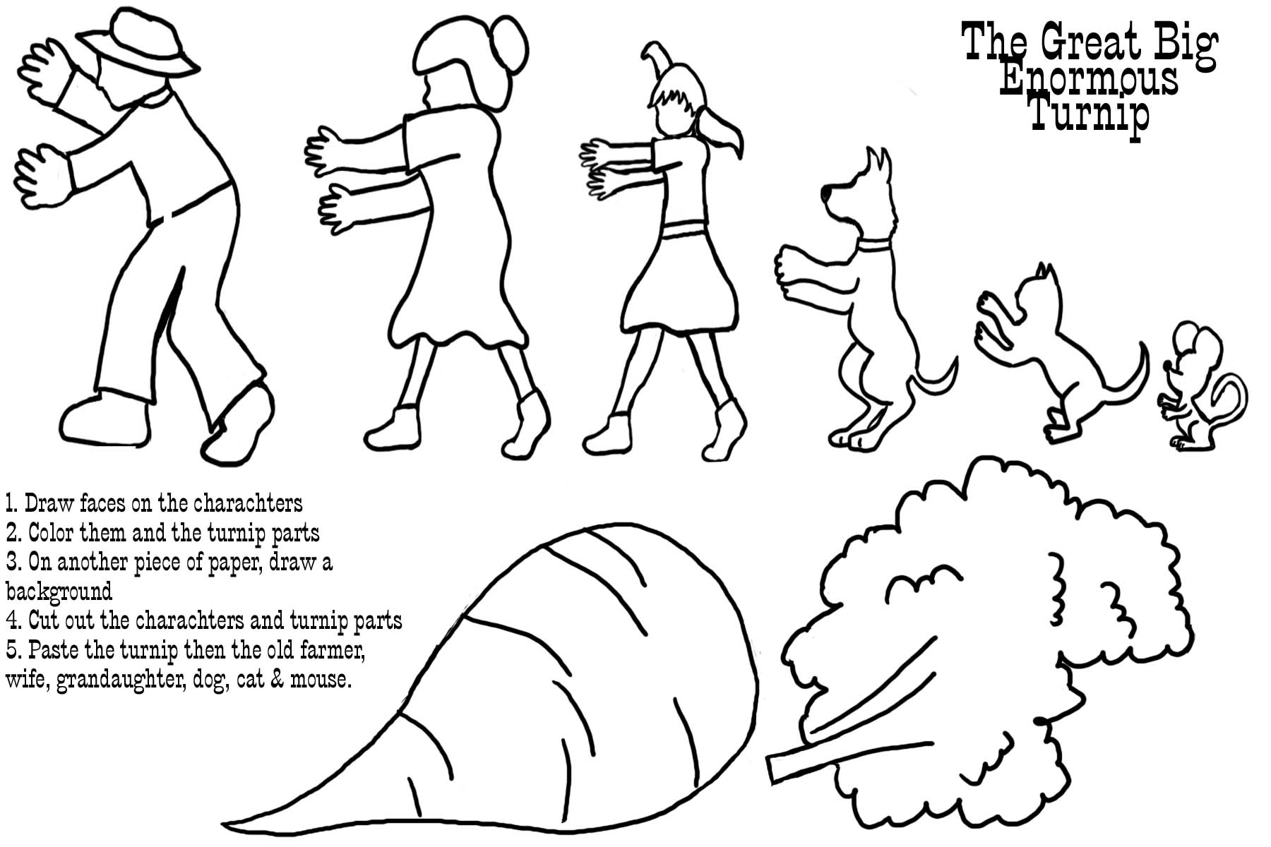 The Gigantic Turnip Coloring Pages Coloring Pages