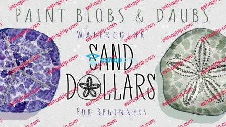 Paint Blobs Daubs Watercolor Sand Dollars For Beginners