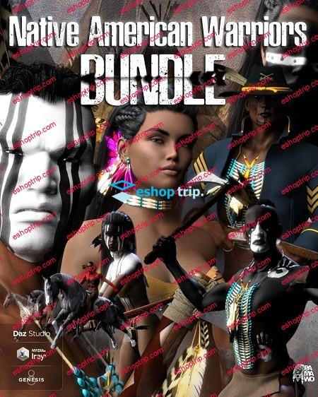 Daz3D Native American Warrior Bundle Pamawo
