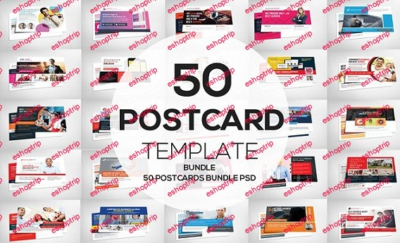 CreativeMarket Business Templates 50 Business Postcard Bundle