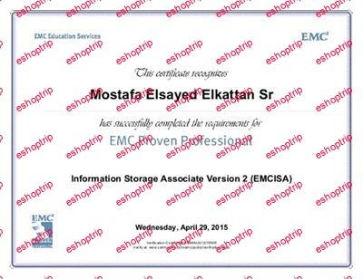 EMC EMCISA Version 2