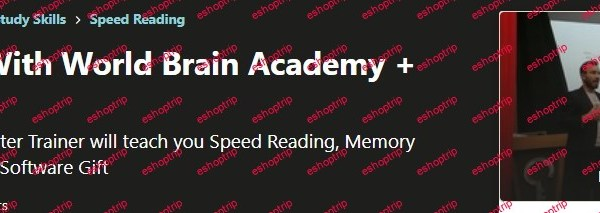 Speed Reading With World Brain Academy Software Gift