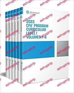 2022 CFA Program Curriculum Level I Box Set Volumes 1 6