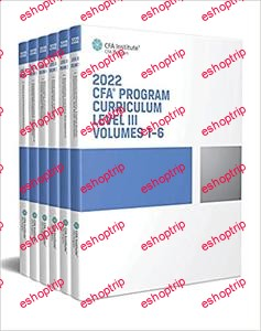 2022 CFA Program Curriculum Level III Box Set Volumes 1 6