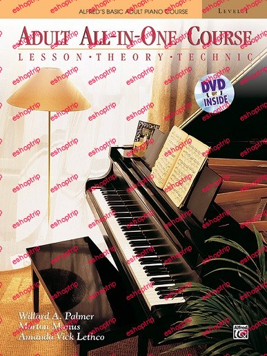 Alfreds Adult All In One Course Lesson Theory Technic Level 1 Piano Book Dvd