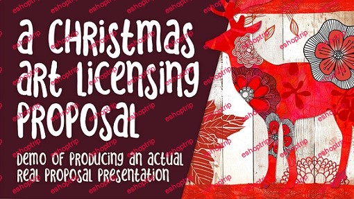 Christmas Art Licensing Proposal Real Demo Create Seasonal Art for Products and Work with a Client