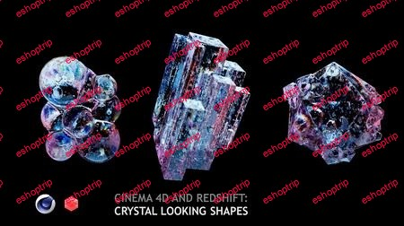 Cinema 4D and Redshift Crystal Looking Shapes