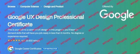 Coursera Google UX Design Professional Certificate