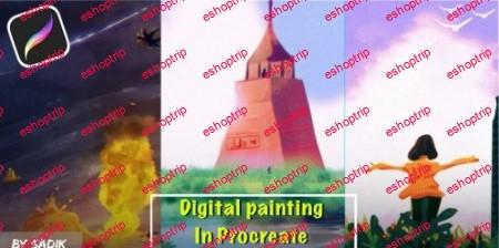 Digital painting in Procreate