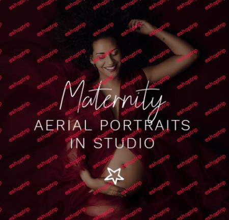 Maternity Aerial Portraits in Studio by MOK A Photographie