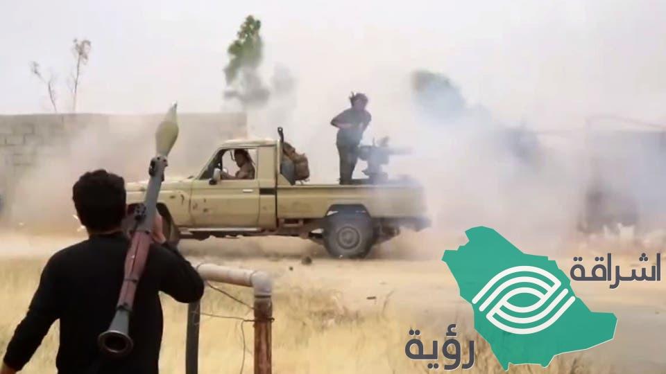 طرابلس – هجوم متكرر بمحو طريق المطار من الجيش الليبي