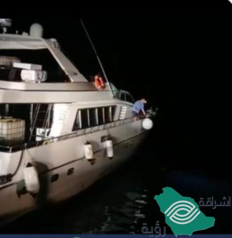 """""""حرس الحدود"""" مُساعدة بريطاني وإيرلندي على متن يخت إسباني في المياه السعودية"""
