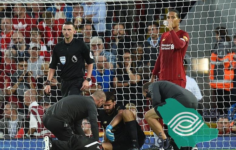 الإصابة تحرم ليفربول من جهود حارسه اليسون في كأس السوبر الأوروبي