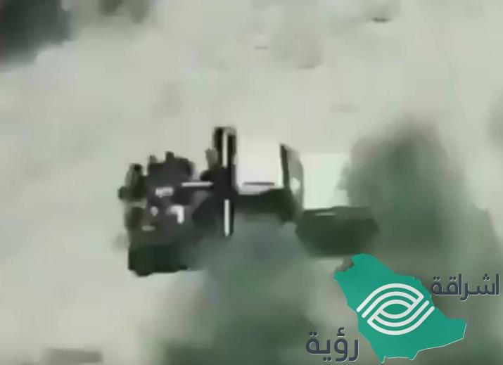 فيديو.. مقاتلات التحالف تدمر عربة عسكرية تقل عناصر حوثية في صعدة