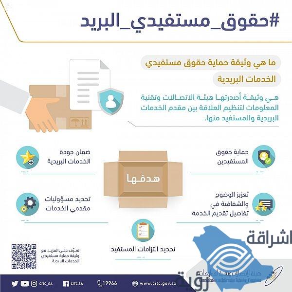 """""""هيئة الاتصالات"""" تكشف عن وثيقة حماية مستفيدي الخدمات البريدي"""