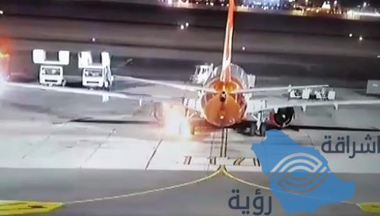 نجاة ركاب طائرة أوكرانية تعرّضت لحريق بعد هبوطها في مصر (فيديو)