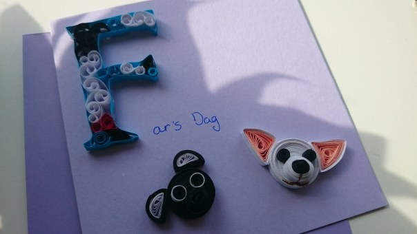 Quilling dog